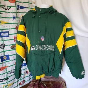 Green Bay Packers Starter Jacket 90s NFL XL Coat